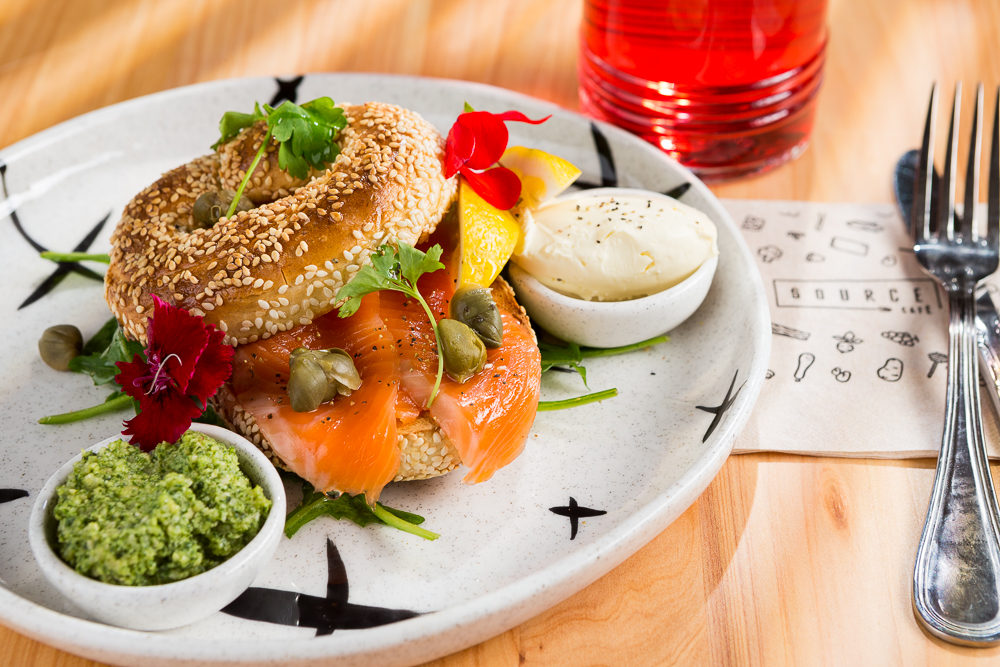 food photographer example image of salmon bagel