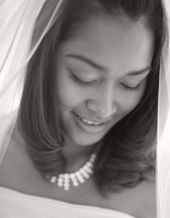 Wedding Photography close up of bride in veil