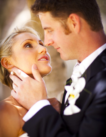 Wedding Photography close up of couple