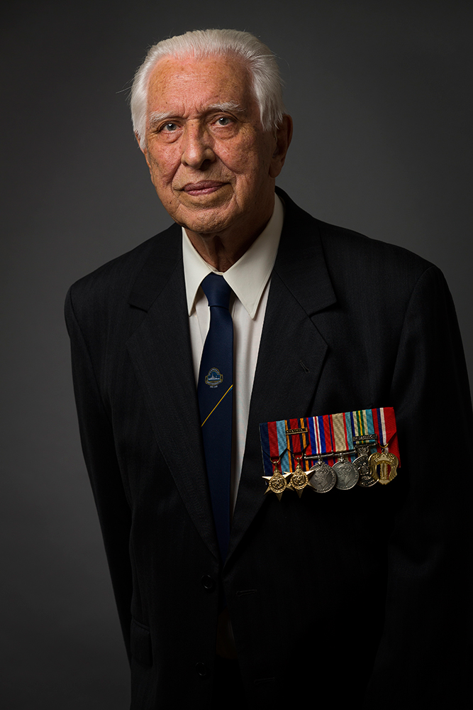 portrait photos of Kenneth Crawford for the veterans project