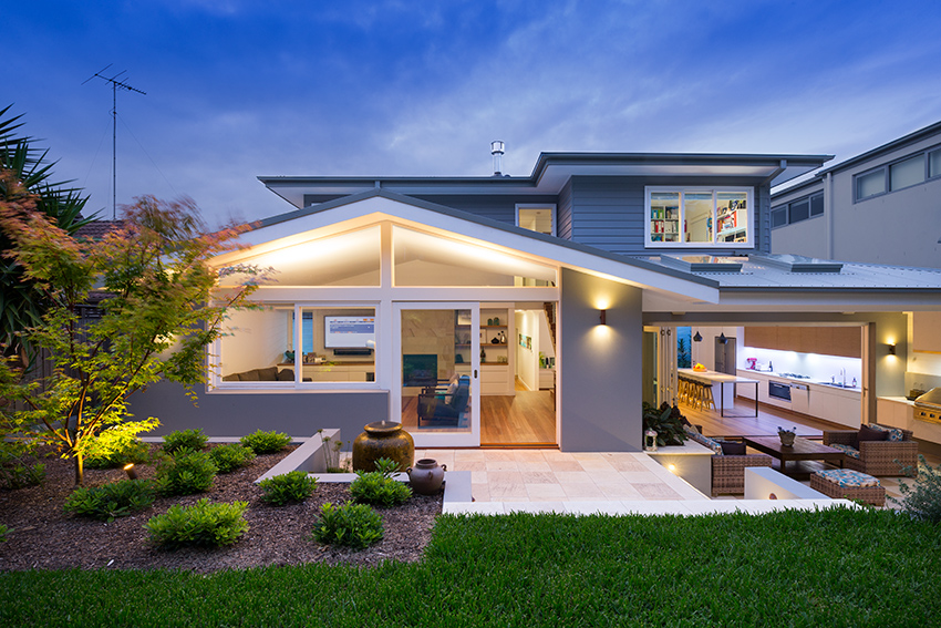 Interiors photographer captures great dusk image of house