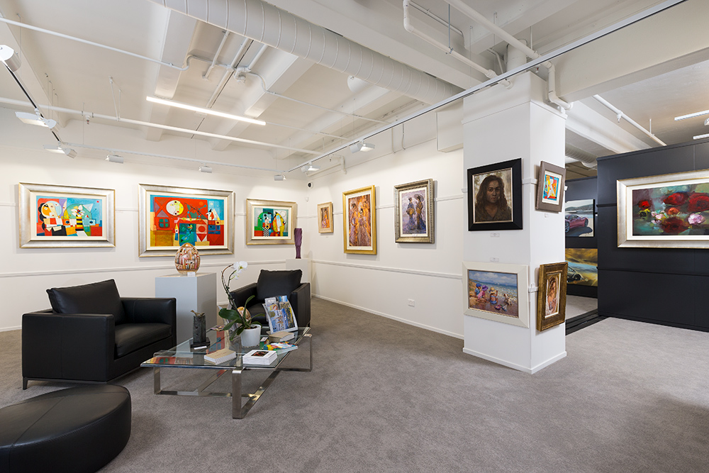 Paintings captured at the Parnell International Art Gallery by Auckland architectural photographer Adam Firth