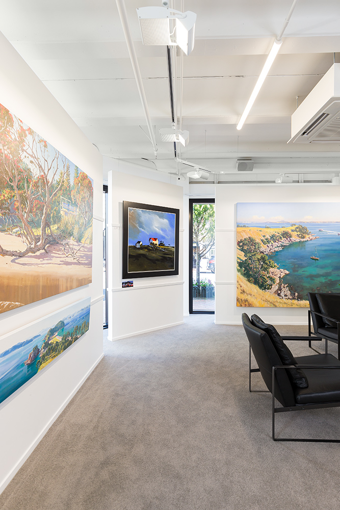 Auckland architectural photographer photographs interior of art gallery