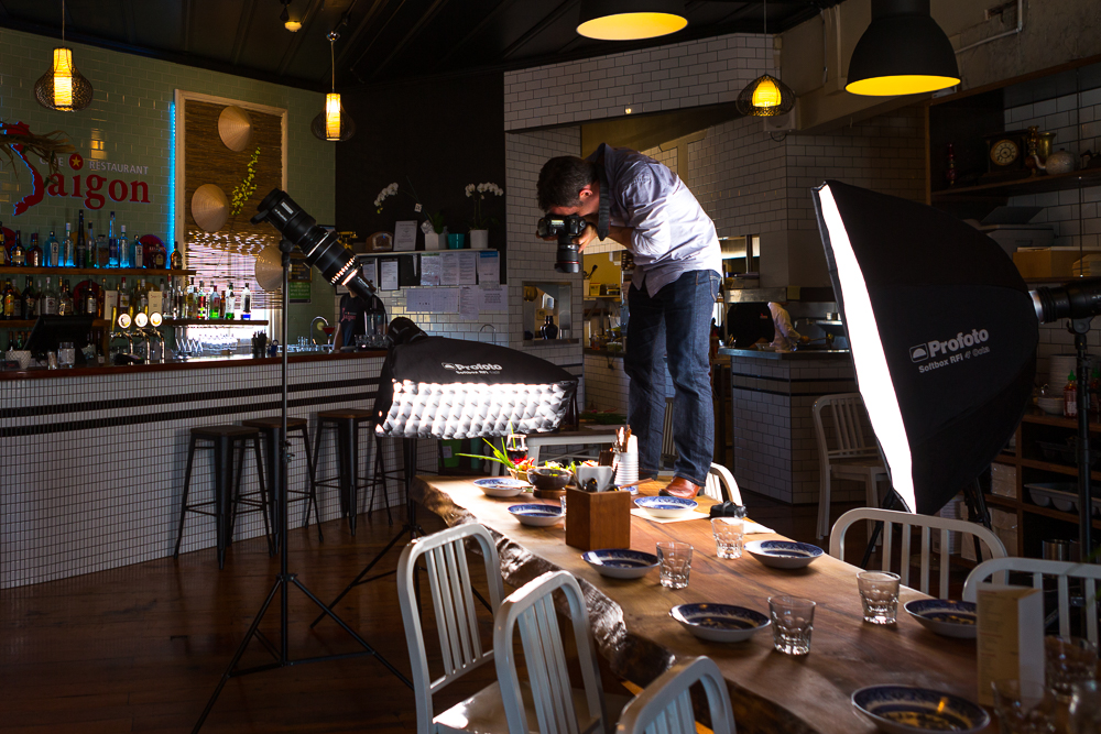 behind the scenes food photography auckland, commercial photographer auckland