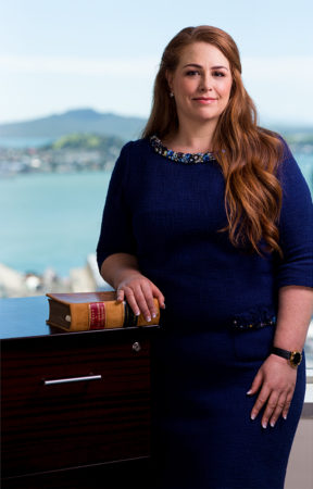 corporate portrait in Auckland with Rangitoto in background