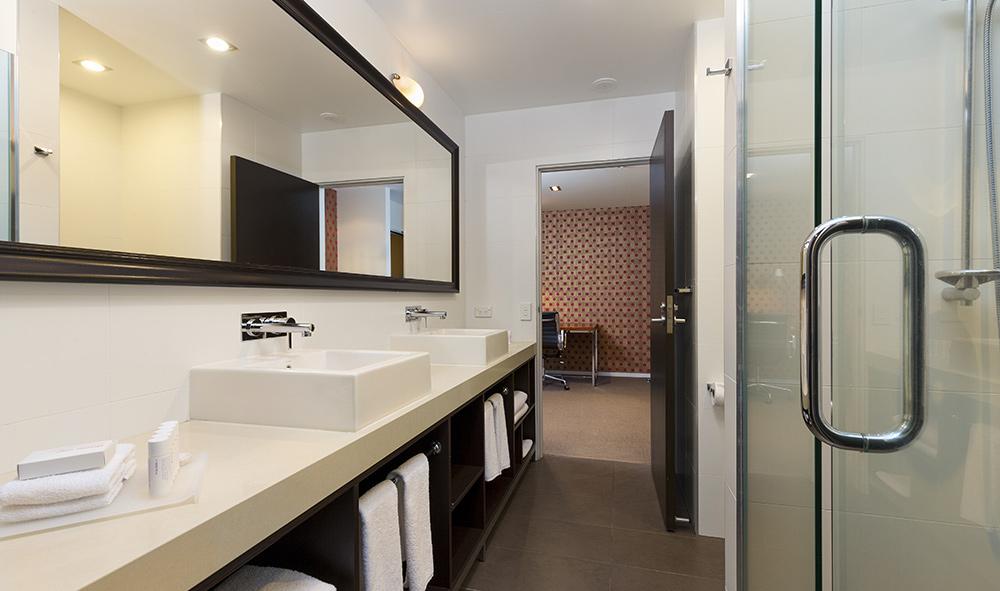 hotel photography of bathroom interior