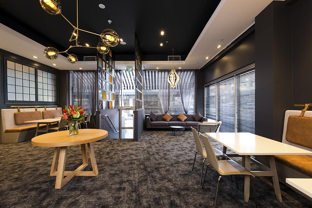 restaurant interior for hotel photography