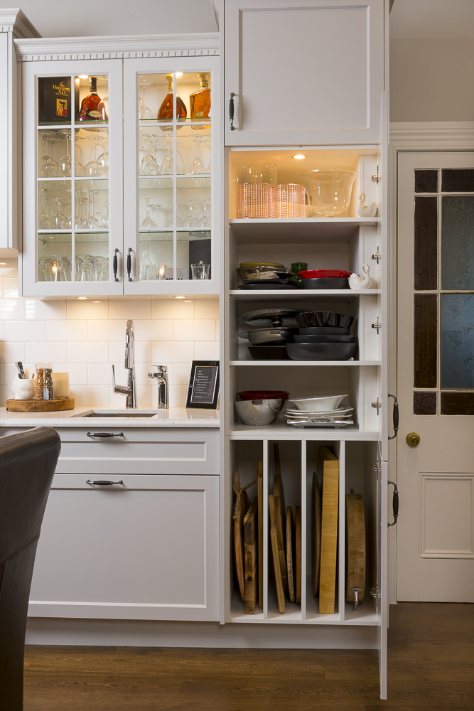 kitchen photography of great storage cupboard in auckland new zealand