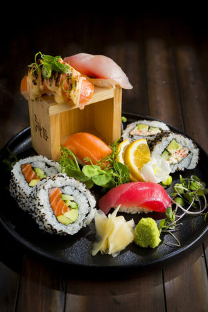 photography of sushi plate by Auckland food photographer Adam Firth