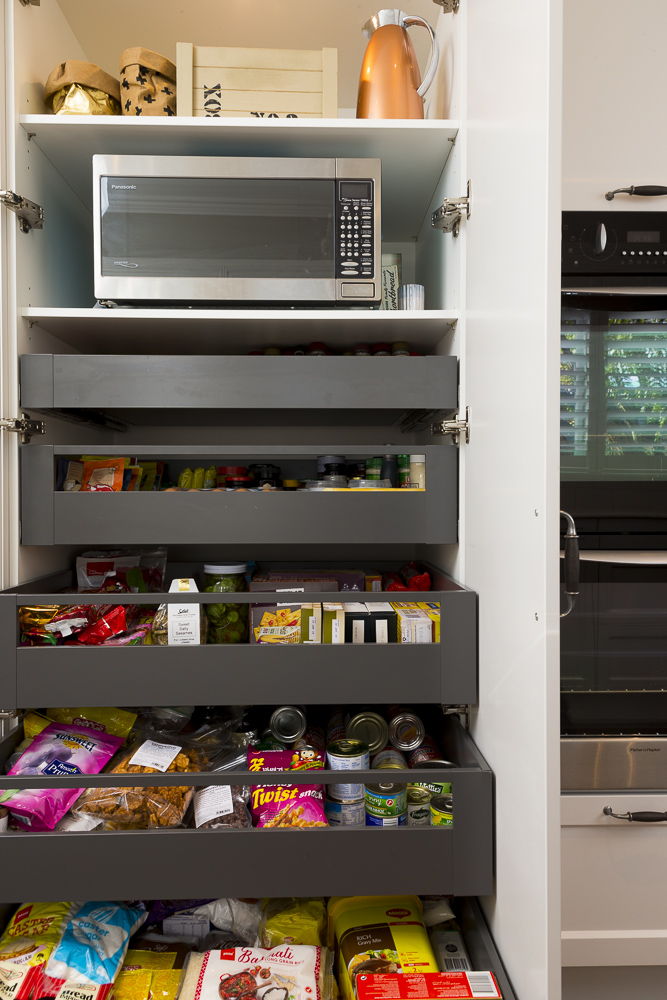kitchen photography of storage cupboard drawers in Auckland New Zealand
