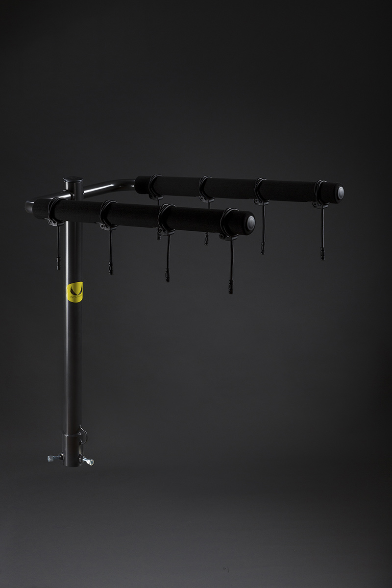 product photography of bike rack