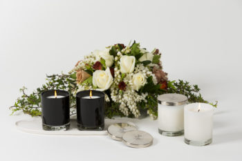 Product photography of candles